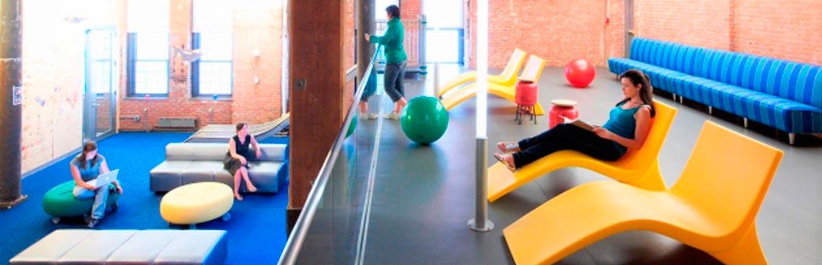 espacios recreativos en oficinas